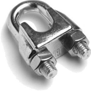 RVS kabelklem, lichte uitvoering