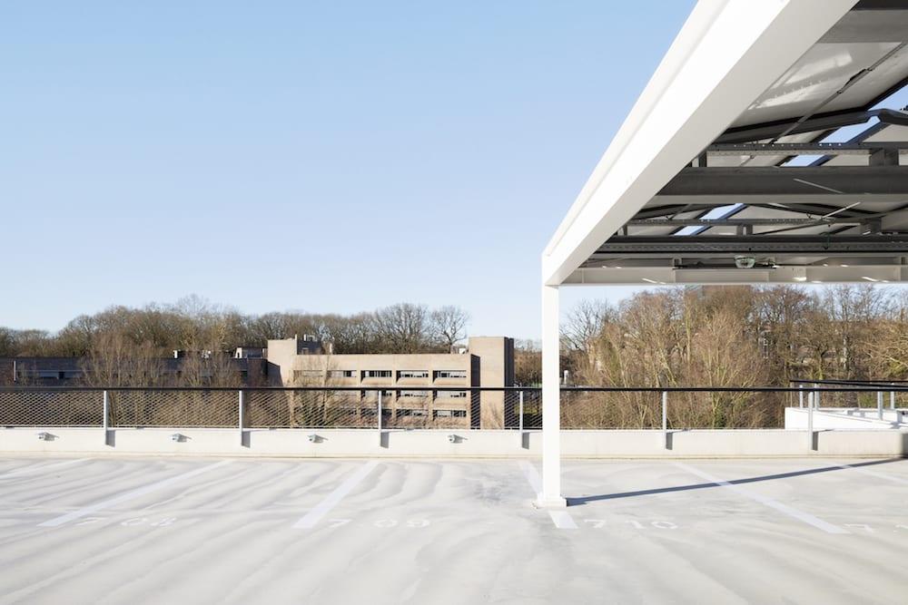 Parkeergebouw Leuven België kabelnetten Carl Stahl