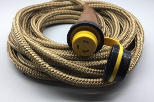 Custom made waterhose in rope with brown leather