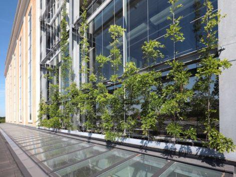 Powerhouse Eindhoven groene gevel horizontale spankabels Carl Stahl