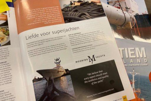 Mooring Yachts artikel in Jachtbouw Nederland