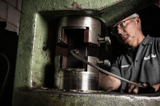 Terk tijdens kabelproductie - Werkplaats - Carl Stahl
